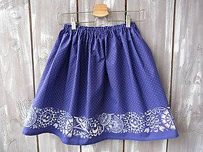 Detské oblečenie - Detská suknička modrá - 10431180_