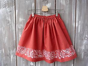 Sukne. Detské oblečenie - Detská suknička červená - 10431210  b5f8cfcbed