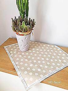 Úžitkový textil - OBRUS, PRESTIERANIE - režné // 50x50 cm - 10430646_