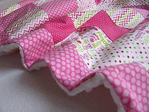 Textil - farebný svet... (cca 65 x 100 cm - Ružová) - 10430625_