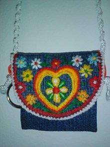 Kľúčenky - Peňaženka na krk, lebo na kľúče-srdce - 10433761_