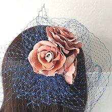 Ozdoby do vlasov - Fascinátor s ružami - 10433663_