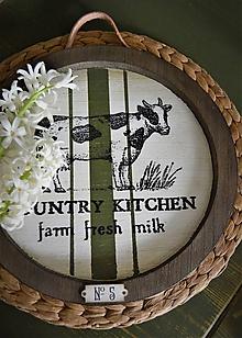 Nádoby - Drevený tanier zo zelenej série Country Kitchen - 10432429_