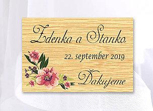 Darčeky pre svadobčanov - Svadobná magnetka - 10436303_