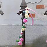 Ozdoby do vlasov - Romantický ružový ružičkový venček s perličkami - 10436129_
