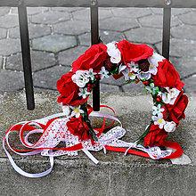 Ozdoby do vlasov - Svadobná parta z červených ruží s malinami - 10436234_
