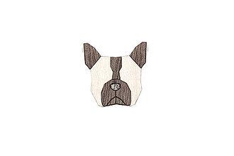 Odznaky/Brošne - Drevená brošňa French Bulldog Brooch - 10436475_