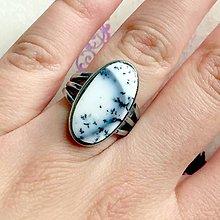 Prstene - Dendritic Opal Elegant Ring / Prsteň s dendritickým opálom #1511 - 10435048_