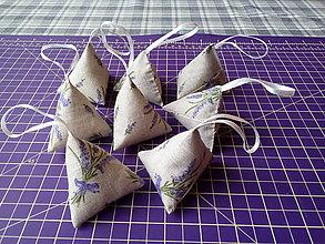 Úžitkový textil - Levanduľové vrecká - 10437274_