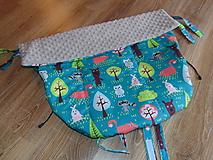 Textil - Nepremokavý nánožník - lesné zvieratká - 10437011_