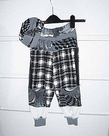 Detské oblečenie - lelohopky uni s čiapkou - 10436404_