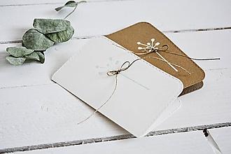 Papiernictvo - Minimalistický pozdrav - púpavy - 10437132_