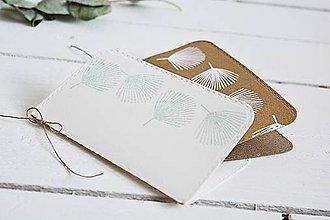 Papiernictvo - Minimalistický pozdrav - palmové listy - 10437157_