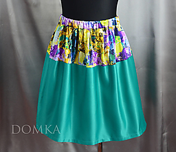 Sukne - Dámska sukňa Smaragd/Abstract - 10438034_