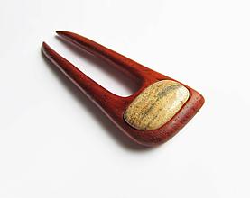 Ozdoby do vlasov - Drevená ihlica do vlasov - 10435778_