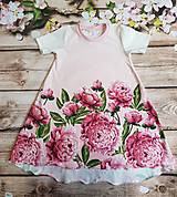 "Detské oblečenie - Šaty ""pivonka"" - 10435068_"