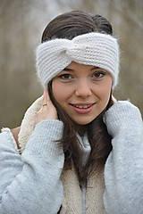 Ozdoby do vlasov - alpaka něžná bílá - 10436306_