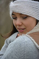 Ozdoby do vlasov - alpaka něžná bílá - 10436307_