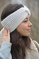 Ozdoby do vlasov - alpaka něžná bílá - 10436308_
