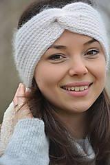 Ozdoby do vlasov - alpaka něžná bílá - 10436309_
