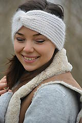 Ozdoby do vlasov - alpaka něžná bílá - 10436310_