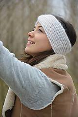 Ozdoby do vlasov - alpaka něžná bílá - 10436311_