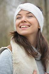 Ozdoby do vlasov - alpaka něžná bílá - 10436312_