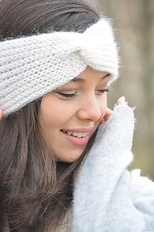 Ozdoby do vlasov - alpaka něžná bílá - 10436305_