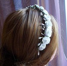 Ozdoby do vlasov - Kvetinová čelenka... - 10436521_