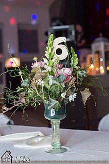 Dekorácie - Číslovanie stolov - čísla - 10437529_