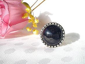 Prstene - Prsteň - Slnečný kameň (modrý) - 10436895_