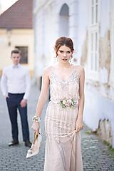 Opasky - Romantický ružový kvetinový set (opasok a náramok, klipy na topánky, náušnice) - 10434734_