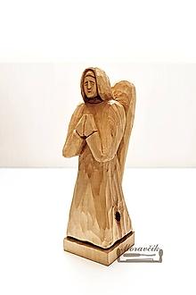 Socha - Anjel - drevená soška - 10436618_