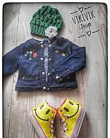 Detské čiapky - Jarná zelená čiapka - 10435526_