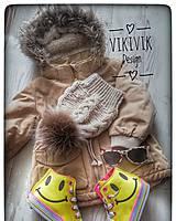 Detské čiapky - Hnedá čiapka - 10435580_