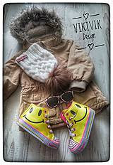Detské čiapky - Biela čiapka - 10435591_