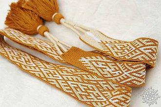 Opasky - Tkaný opasok Kvet Paprade - 10435527_