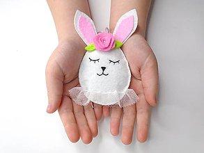 Dekorácie - Vajíčko alebo ... (zajačik s tutu sukničkou) - 10434783_