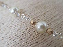 Sady šperkov - Náhrdelník s náušnicami v béžovo zlatej farbe - 10437350_