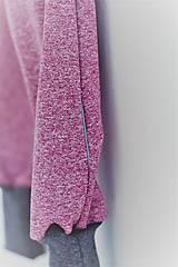 Detské oblečenie - Softshellky bez záplat - vínovo-bordová melír (110 (4-5 r.) dl: 70cm) - 10435892_