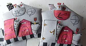 Textil - DOMEČEK u TULIPÁNKU - polštář - 10434551_
