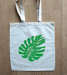 Nákupné tašky - taška monstera (filodendron) - 10436922_