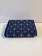 Úžitkový textil - Vyšívaný obrus stredový, Namaľoval Mrázik, - modrý, 20,5 x 138 cm - 10434860_