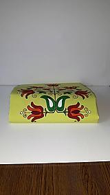 Maľovaný obrus stredový - žlto zelený, 40 x 140 cm