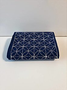 Úžitkový textil - Vyšívaný obrus stredový - modrý, 20,5 x 138 cm - 10434860_