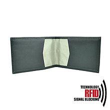 Peňaženky - Ochranné RFID púzdro na karty v čiernej farbe - 10436903_