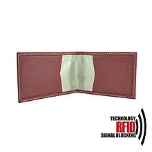 Peňaženky - Ochranné RFID púzdro na karty v bordovej farbe - 10436905_