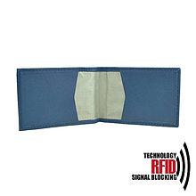Peňaženky - Ochranné RFID púzdro na karty v modrej farbe - 10436907_