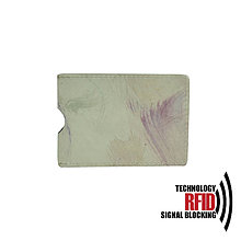 Peňaženky - RFID ochranné púzdro na karty, maľované - 10436928_