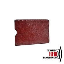 Peňaženky - RFID ochranné púzdro na karty, bordové - 10436933_